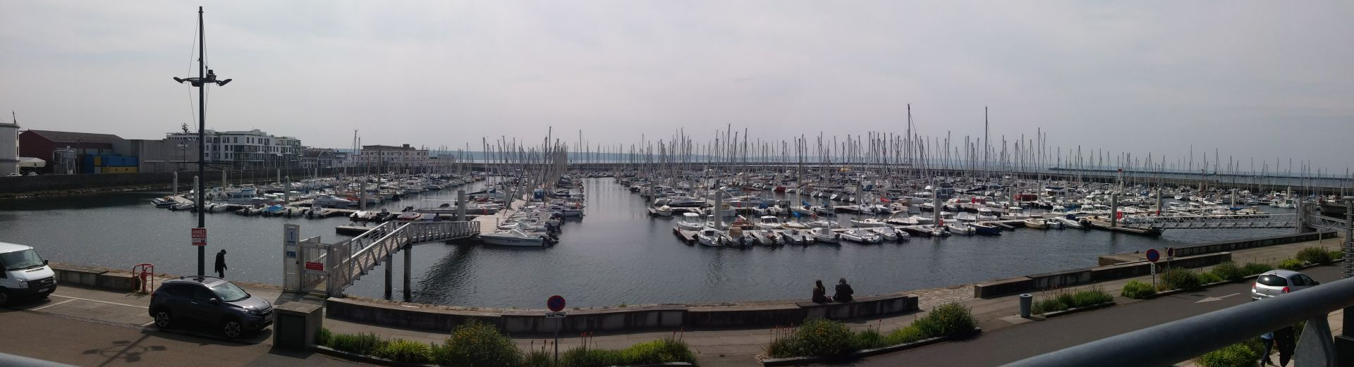 The marina in Brest