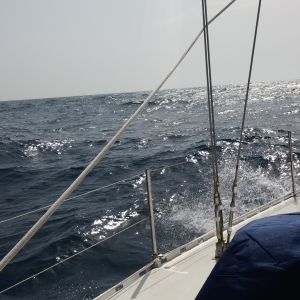 Little choppy on the way in