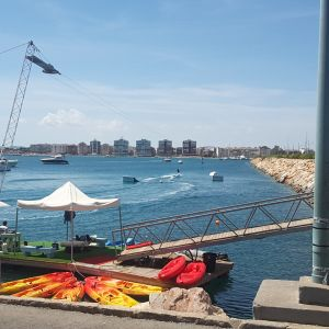 A little wake board cable park beside the marina