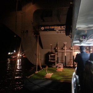 CVN-77-Aircraft-Carrier-Reception-in-Antalya-Bay-1